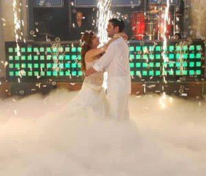 קרח יבש בחתונה