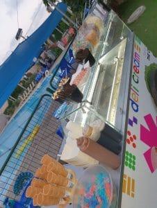 עגלת גלידה מעוצבת
